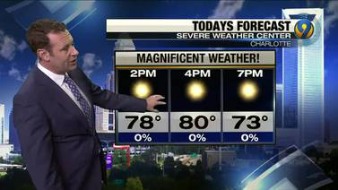 Sunday morning forecast update by meteorologist Keith Monday