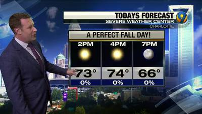 Monday morning forecast update from Meteorologist Keith Monday