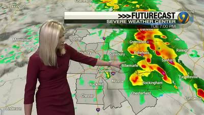 Tuesday night's forecast with Meteorologist Ashley Kramlich