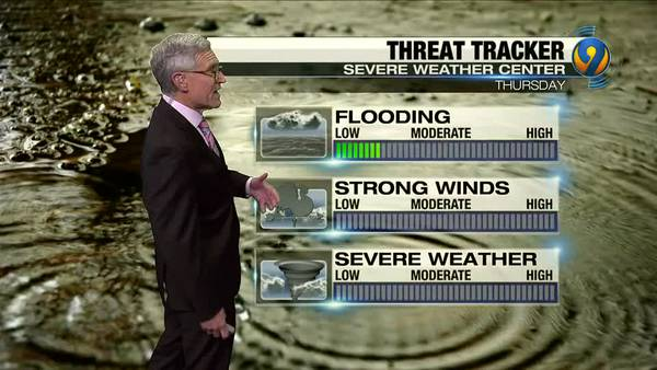 Wednesday night's forecast with Chief Meteorologist Steve Udelson