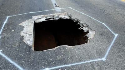 Part of I-40 near Statesville closed until Monday as crews fix hole in bridge