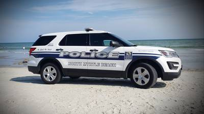 North Myrtle Beach police car hit, killed person walking illegally on highway