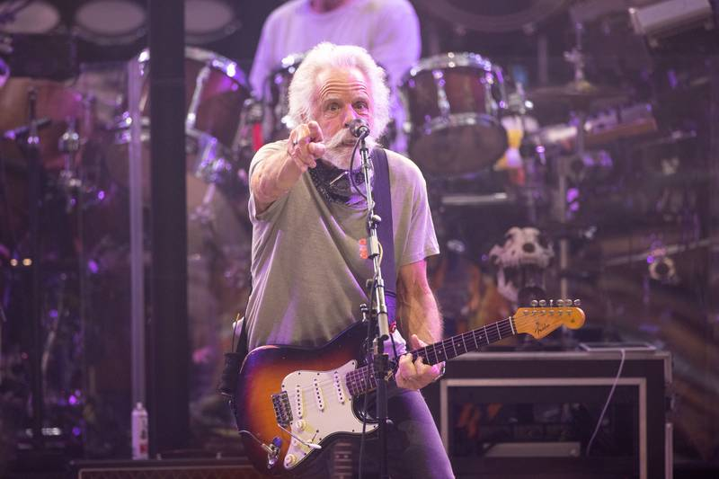 Bob Weir of Dead & Company performs for a sold-out crowd at Charlotte's PNC Music Pavilion. Oct. 11, 2021.