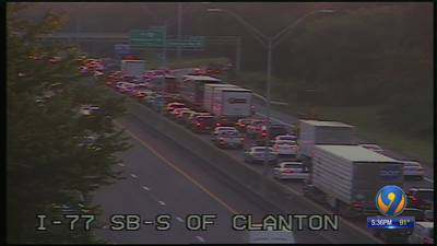Overnight construction delays on I-77 cause traffic back-ups for morning commute
