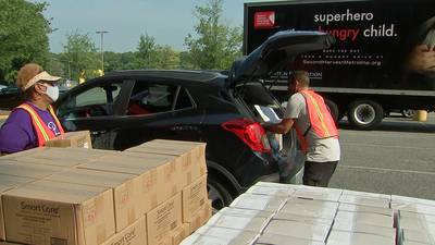 'I'm grateful': Huge food, household supplies giveaway helps families in need