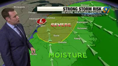 Wednesday morning forecast update from Meteorologist Keith Monday