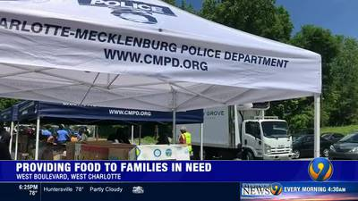 Church, CMPD working to feed people in need