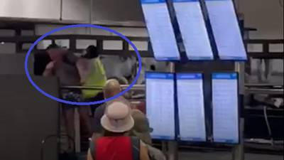 Video shows man's confrontation with gate agent at Charlotte airport