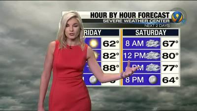 Friday morning forecast update from Meteorologist Ashley Kramlich