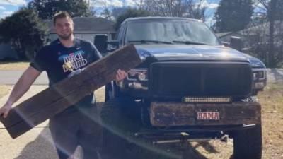 How former Big 22 standout's bumper is helping Florida firefighter battling cancer