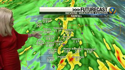 Monday afternoon forecast update from Meteorologist Ashley Kramlich