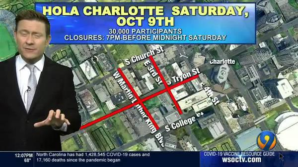 Traffic Team 9 shares update on uptown Charlotte, ROVAL 400 weekend road closures