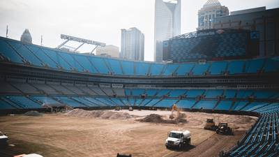 Panthers donate more than 5,000 tons of soil from stadium field to Mecklenburg County parks