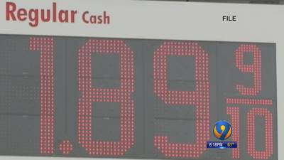 Gas prices at lowest point in nearly three years, experts say