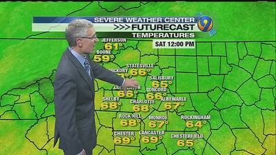 TRACKING: Showers, thunderstorms push east into Charlotte area