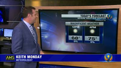 Saturday morning's forecast update with Meteorologist Keith Monday