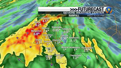 Heavy showers in forecast spark flooding concerns in the NC mountains