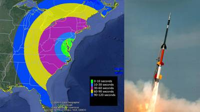 UPDATES: Observers on East Coast could see colorful cloud from NASA rocket