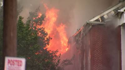 PHOTOS: Historic west Charlotte church catches fire