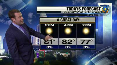 Friday morning forecast update from Meteorologist Keith Monday