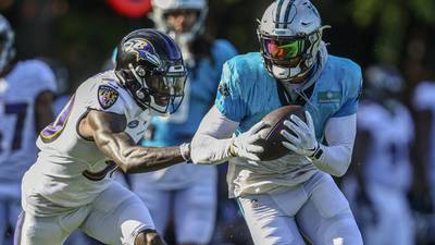 Panthers' Rhule unhappy with passing game vs. Ravens