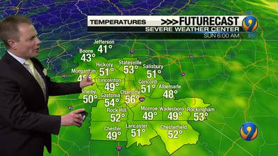 Saturday night's forecast update with Meteorologist John Ahrens