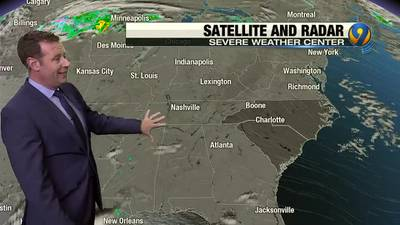 Wednesday afternoon's forecast update with Meteorologist Keith Monday