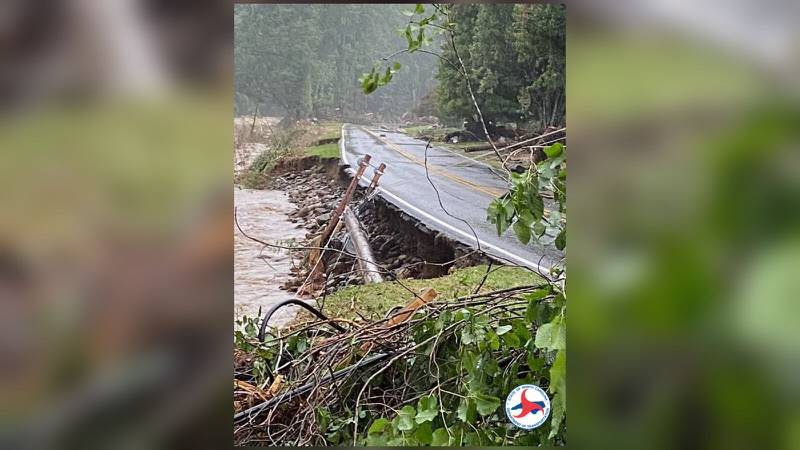 AUGUST 18, 2021 - Clyde was hit hard with record flooding on the Pigeon River from Tropical Storm Fred. Wednesday afternoon, only local traffic was allowed on US-276 into Cruso. (Photo credit: NCDOT)