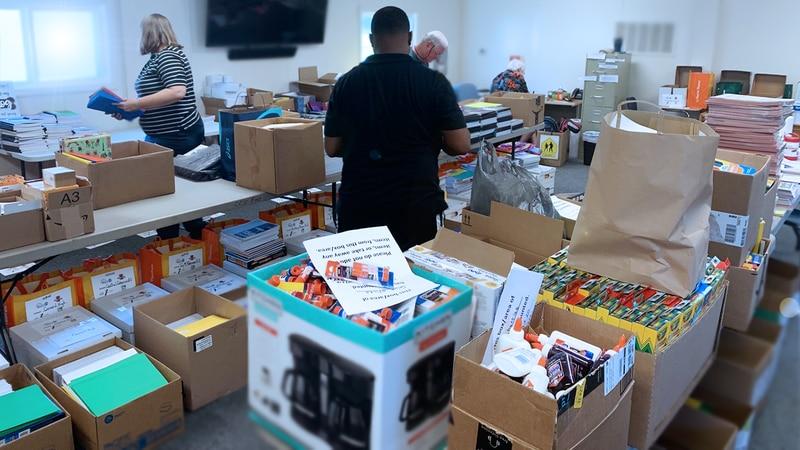 Cabarrus County volunteers break record, collect over 100,000 school supply donations