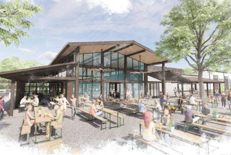 This rendering shows plans for The Olde Mecklenburg Brewery's expansion into Mount Holly.