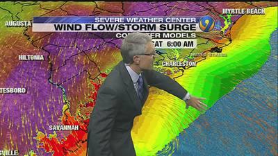 FORECAST: Matthew churns north as rain falls in Charlotte region