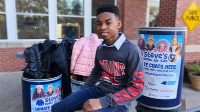 Charlotte 8th grader collects hundreds of coats for kids in need