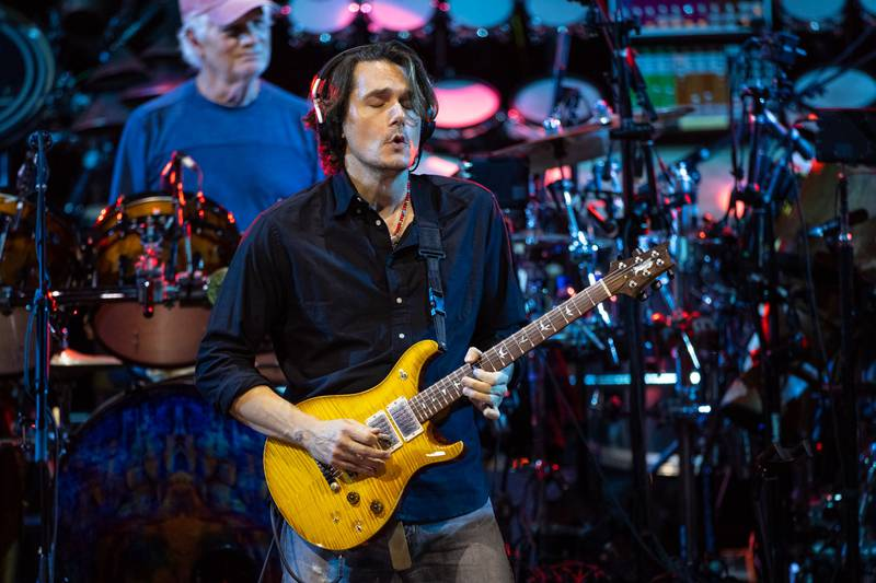 John Mayer of Dead & Company performs for a sold-out crowd at Charlotte's PNC Music Pavilion. Oct. 11, 2021.