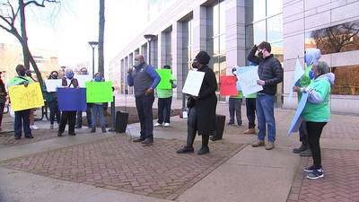 Rally held to support efforts to make housing vouchers more accepted