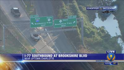 DETOUR: Ramp from I-77 to Brookshire Freeway closed for two months